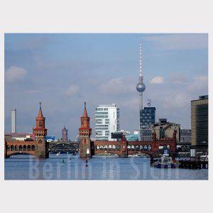 Postkarte Berlin Oberbaumbrücke