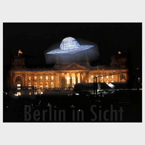 Postkarte Berlin UFO Reichstag