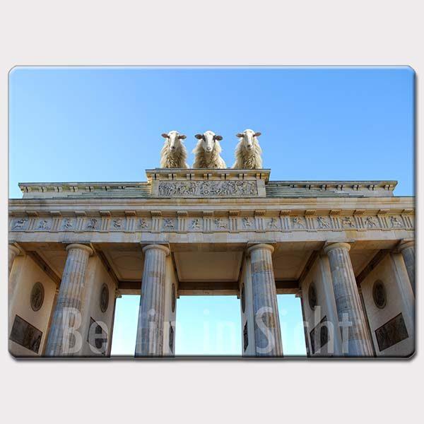 Fotomagnet Schafe Brandenburger Tor