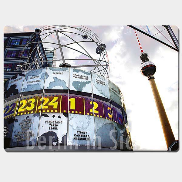 Fotomagnet Weltzeituhr Berlin