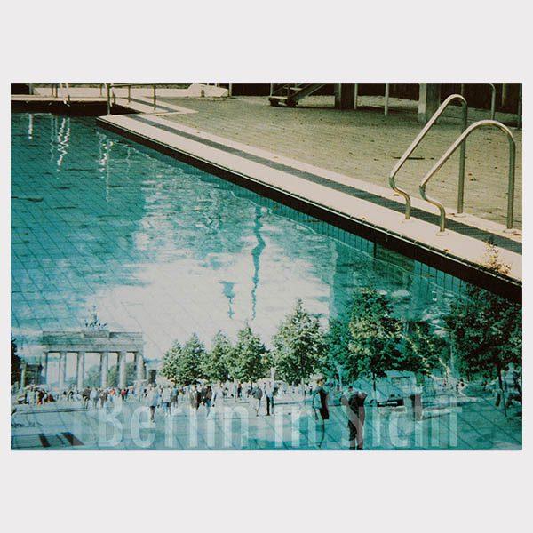 Berlin-Postkarte Schwimmbad