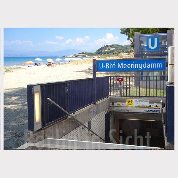 Postkarte U-Bahnhof am Meer Meeringdamm