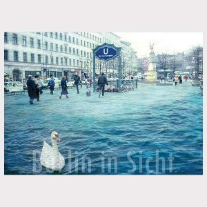 Postkarte Schwanensee Neukölln
