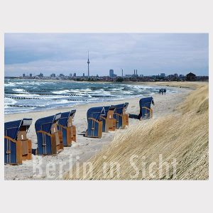 Berlin am Meer Postkarten Berlin in Sicht Onlineshop Strandspaziergang