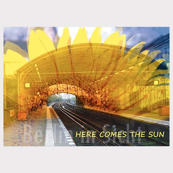 Postkarte Here comes the sun