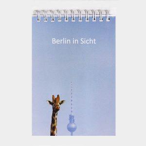 Notizblock Giraffe Fernsehturm Berlin