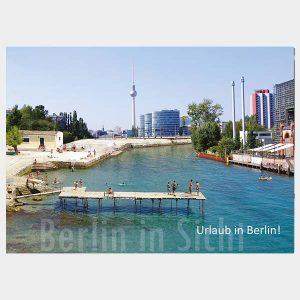 Berlin am Meer Postkarte Urlaub in Berlin