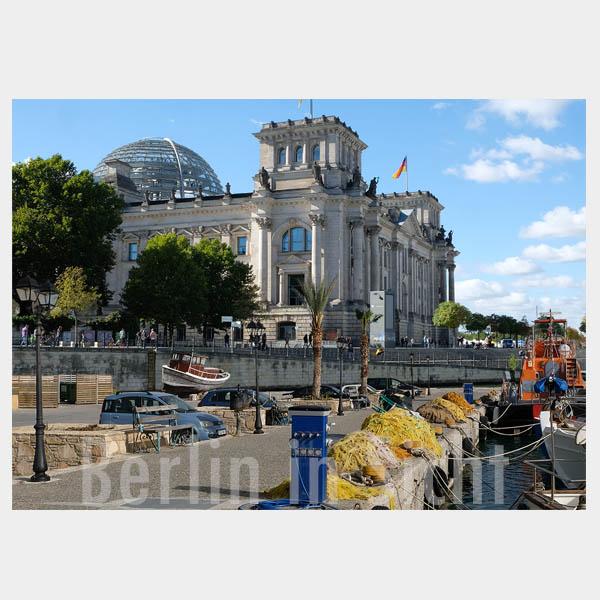 Postkarte Berlin am Meer - Reichstag